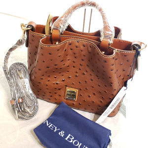 NWT Dooney & Bourke MINI Barlow Ostrich satchel